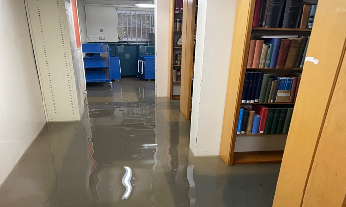Library flood damage