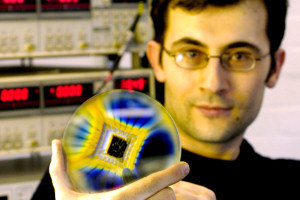 A Manchester researcher shows graphene quantum dots on a chip