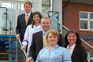 Professor David Denning and the Centre's new team
