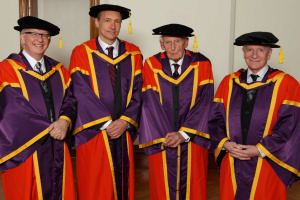 Prof Edward Gregson, Sir Tim Berners-Lee, Sir Bernard Lovell, Edwin Davies