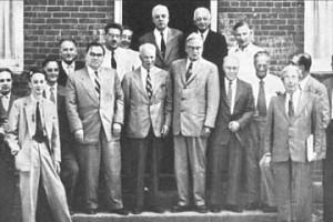 Participants in the first Pugwash Conference, Pugwash, Nova Scotia, 1957