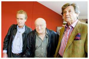 Left to right:  Professor Martin Amis. Al Alvarez and Melvyn Bragg