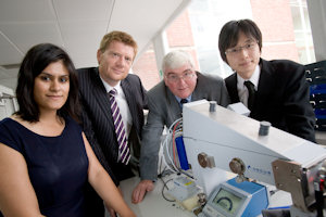 Prof Paul O'Brien (second from the right) with reps from NWDA, Midas and Murata